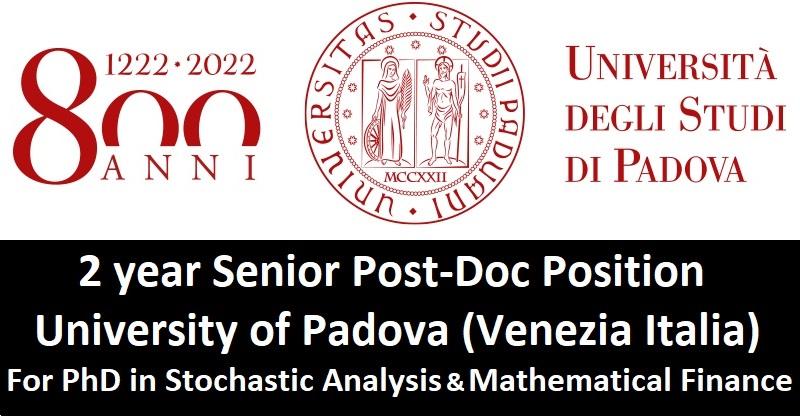 Post-Doc - Italy