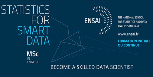[#DataScientist en 1 an en 2021] Intégrez le Master in Statistics for Smart Data de l'ENSAI !