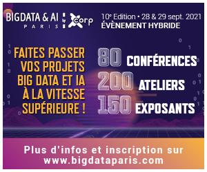 ></a>Big Data & AI Paris 2021 est le fruit du regroupement entre deux événements phares de la tech française et européenne : Big Data Paris, rendez-vous clé de la scène big data depuis dix ans, et AI Paris, événement dédié aux avancées de l'intelligence artificielle devenu incontournable en cinq éditions.</p> <p style=